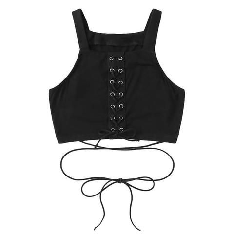 4fa739433 feitong Crop Tops Women 2018 sexy tanks tops female Bandage tank top women  summer ladies party tops Haut Femme Cropped Feminino
