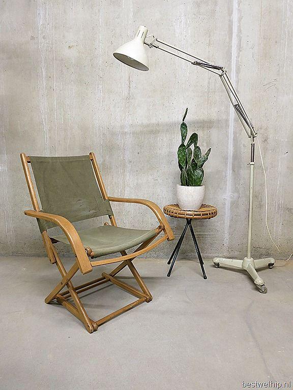 Vintage Torck strandstoel Deense stijl | Bestwelhip
