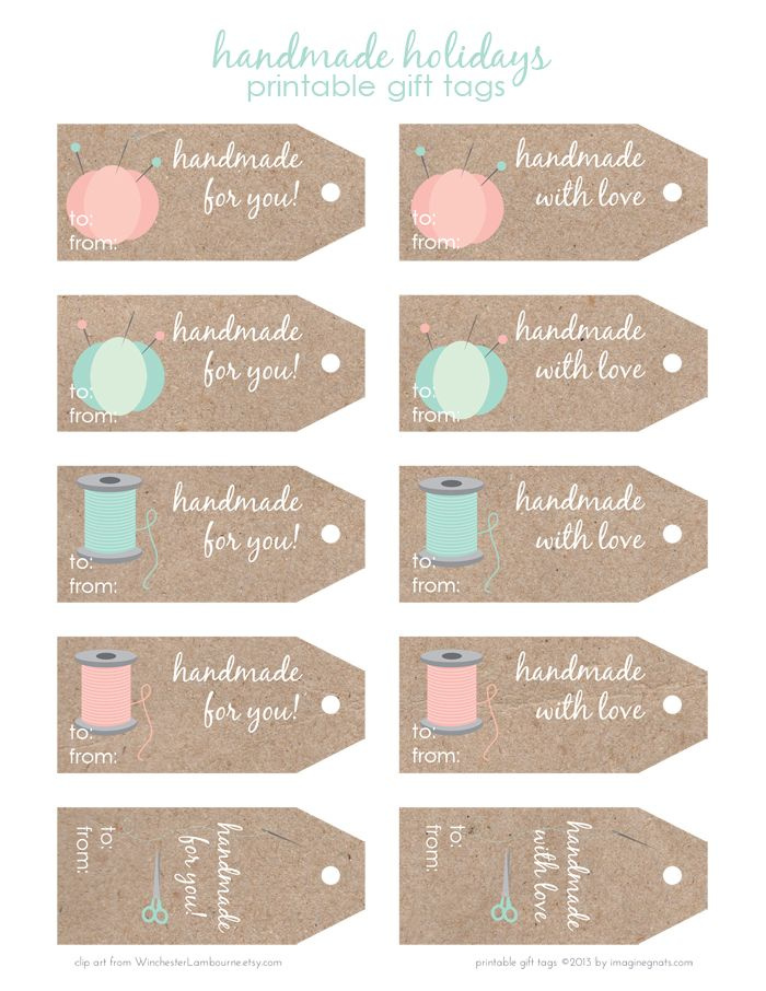 Best 25 sewing clipart ideas on pinterest clipart vintage free printable handmade holidays gift tags negle Image collections