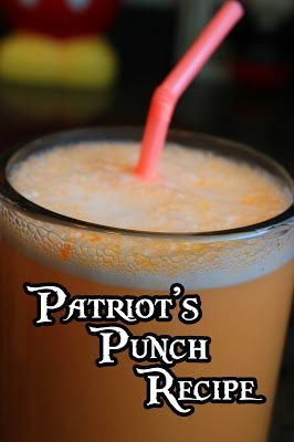 Disney Recipes: Patriot's Punch from Liberty Tree Tavern (Magic Kingdom) http://www.TheDisneyDiner.com