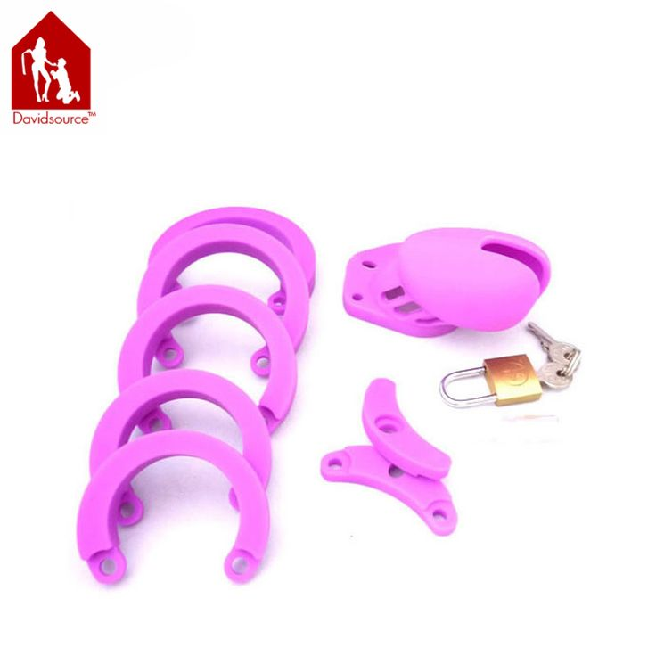==> [Free Shipping] Buy Best Davidsource Purple Silicone Cock Penis Cage Pubic Enemy Virginity Lock Male Penis Torture Kit Fetish Men Sex Toy Online with LOWEST Price | 32500755190