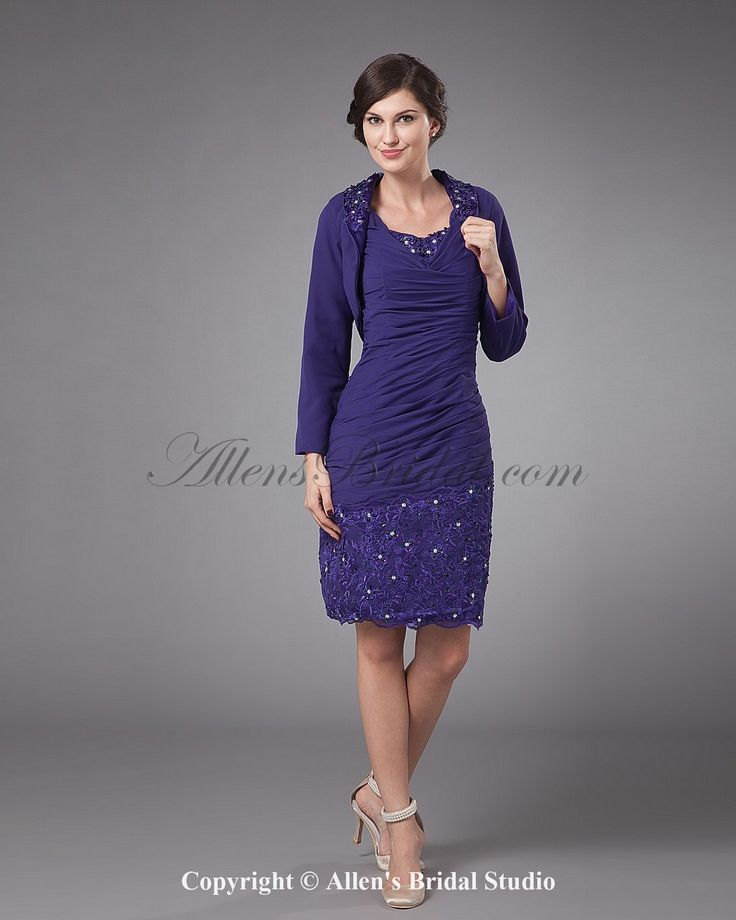 Chiffon Knee Length Ruffled Mothers Of Bride Guests Dress Is This Pretty Or Wat