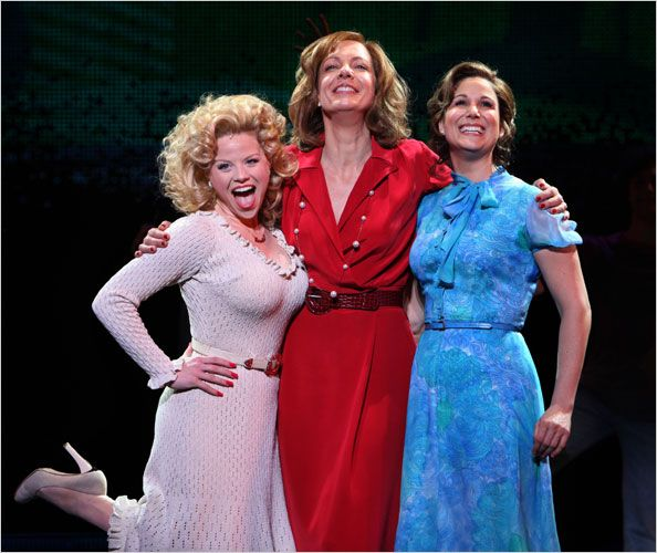 Megan Hilty, Allison Janney, and Stephanie J. Block in 9 to 5 the Musical.  Not my favorite, but it was a fun musical.