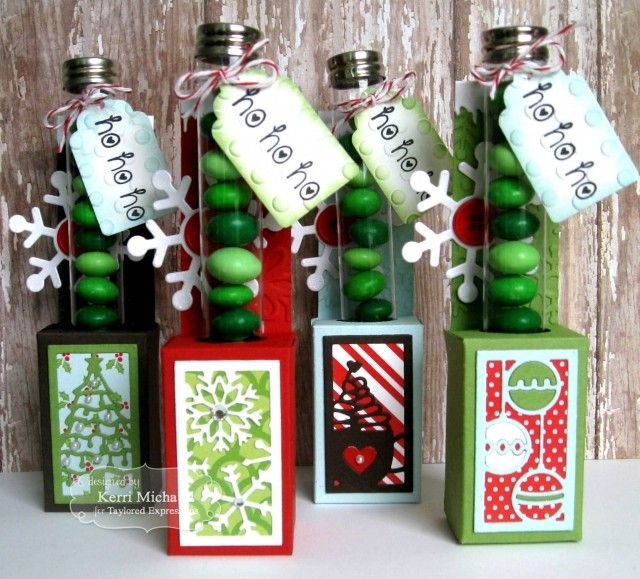 Test Tube Caddy die & You've Been Framed- Christmas die  / Taylored Expressions