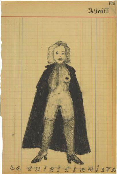 La Exibicionista | 2010 | Graphite on paper, waxed | 38.5 × 26 cm