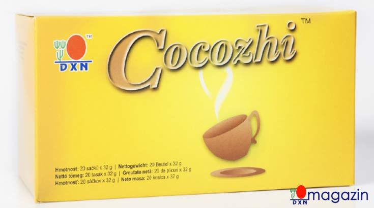 Cocozhi a gyermekek kedvenc, mely kakaóban gazdag ital és ganodermát is tartalmaz. Öntse egy csésze forró vízbe, keverje meg, maris fogyaszthatja.