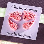 Quilling InstructionsPaper Quilling, Bluebirds, Birdbaths, Quilling Crafts, Baby Feet, Quilling Baby, Baby Shower Gifts, Quilling Instructions, Creations Quilling