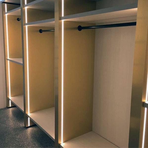 Top 50 Best Closet Lighting Ideas Illuminated Interiors Closet Ideas Illuminated Interiors Light In 2020 Closet Lighting Closet Light Fixtures Hidden Lighting