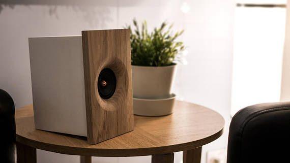 Oak Wood Desktop Speakers Stereo Passive Speakers Fernweh