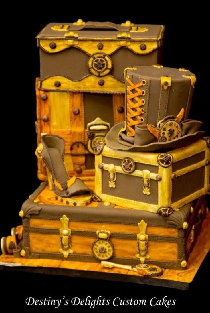 Steampunk Travel Destiny's Delights Custom Cake