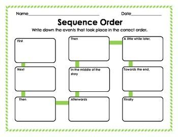 graphic organizers chronological order - Google Search
