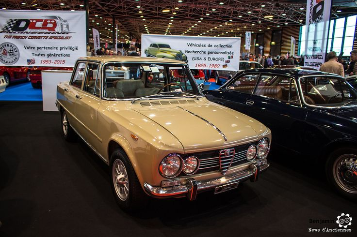 Alfa Romeo Giulia à Epoqu'Auto. Reportage complet : http://newsdanciennes.com/2016/11/06/encore-plus-grand-epoquauto-2016-etait-phenomenal/