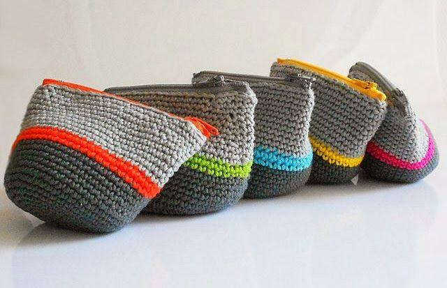 Aprendiz de Crocheteiras: Faça Você: Portas Moedas de Crochê   Ganhe Mais Cí...