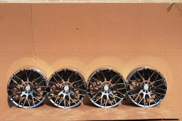 18x8 0 Black Chrome Wheels Rim 5x108 Lincoln LS Jaguar s Type XJ XJ8