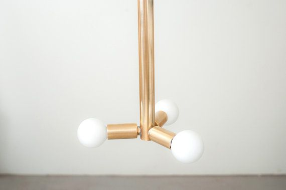 3 Bulb Brass Hanging Pendant Light by Dylan Design by dylangrey, $175.00