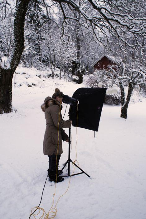 shooting in the scandinavian winter is not easy!! =)