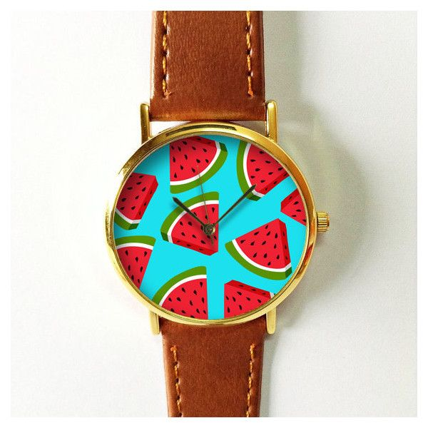 Watermelon Watch 2 Vintage Style Leather Watch, Women Watches,... (605 PHP) via Polyvore featuring men's fashion, men's jewelry, men's watches, watches, watermelon, mens analog watches, mens red watches, vintage style mens watches and mens leather watches