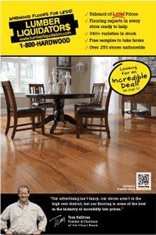 Install a wood floor from Lumber Liquidators flooring catalog
