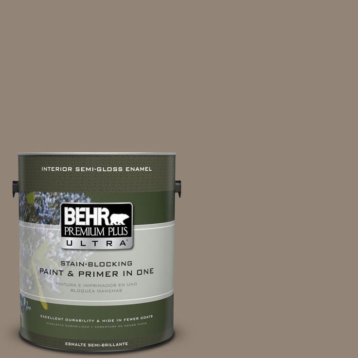 BEHR Premium Plus Ultra 1-gal. #N220-5 Ottertail Semi-Gloss Enamel Interior Paint