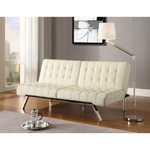 Emily Convertible Futon, Multiple Colors Walmart online $189 (Cream colored seems to have better reviews in longer term use)