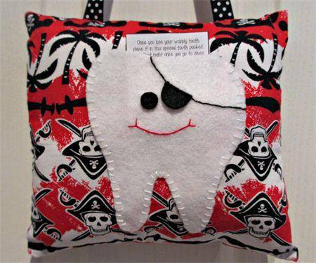 Pirate tooth fairy pillow madeit.com.au/moobearcreations
