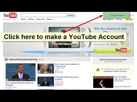how to set up youtube account tutorial