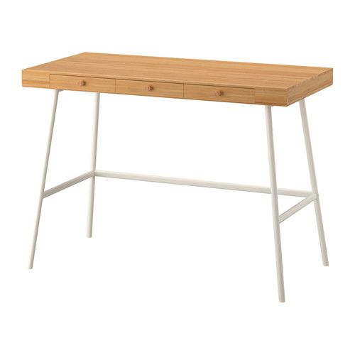 IKEA - LILLÅSEN, Desk, , Bamboo is a durable, renewable and sustainable material.Can be placed anywhere in the room because the back is finished.Drawer stops prevent the drawers from being pulled out too far.