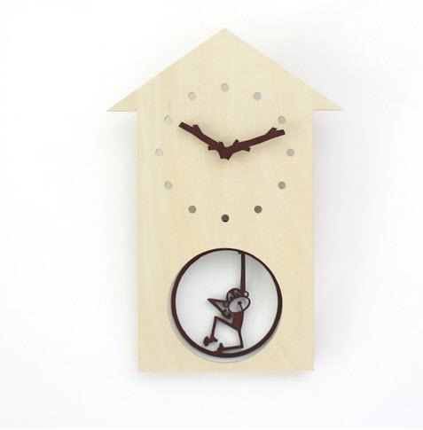 Jam unik | Hanging Monkey Clock