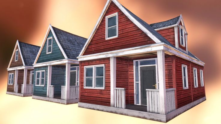 Abandoned Houses 01 - 3d model - CGStudio