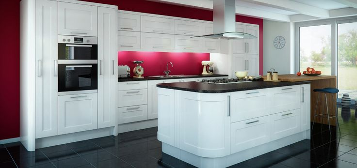 White Kitchen Islands Pinterest