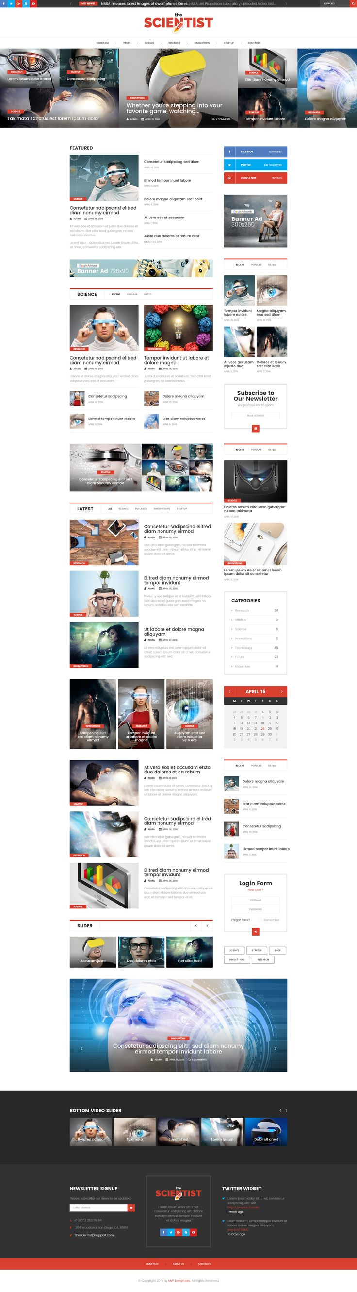 The Scientist - Science, Research and Innovations magazine • Download ➝ https://themeforest.net/item/the-scientist-science-research-and-innovations-magazine/15989956?ref=pxcr