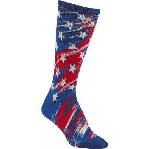 BCG Women's Americana Abstract Flag Crew Socks (Multi, Size Large) - Dress And Casual Socks Shoes at Academy Sports