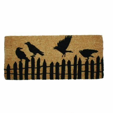 Tag 201147 18 inch by 40 inch black crow for Door mats amazon