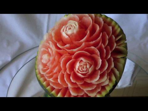 اجمل طريق في العالم لتقطيع البطيخ تقطيع البطيخ Youtube Flowers Rose Watermelon