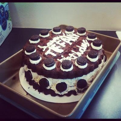 Homemade Oreo Icecream Cake