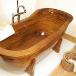 Een houten bad
