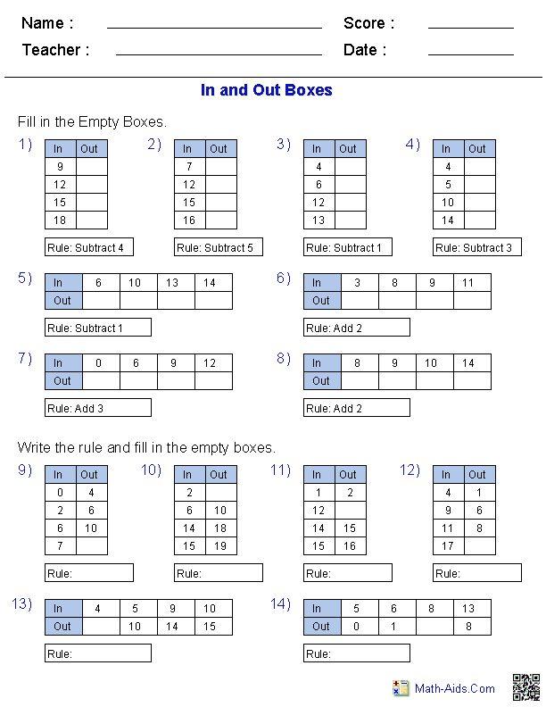 Math-Aids.Com | Printable Math Worksheets for Various Math Topics