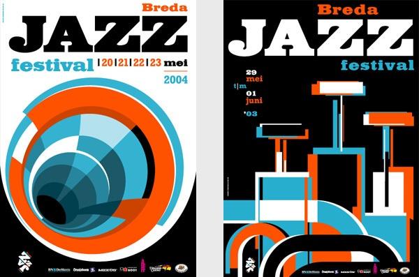 Breda Jazz Festival (NL) by Pepijn Zwart, via Behance