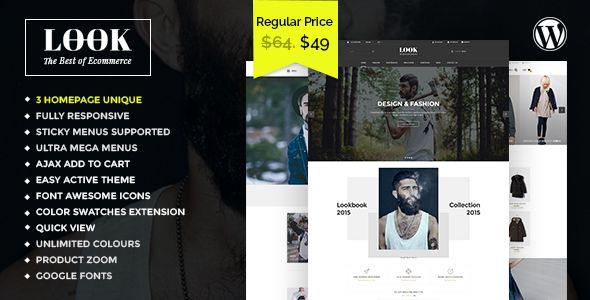 Look - Responsive Multi-Purpose Woocommerce WordPress Theme . Look has features such as High Resolution: Yes, Widget Ready: Yes, Compatible Browsers: IE9, IE10, IE11, Firefox, Safari, Opera, Chrome, Edge, Compatible With: WPML, BuddyPress 2.5.x, BuddyPress 2.4.x, BuddyPress 2.3.x, BuddyPress 2.2.x, WooCommerce 2.5, WooCommerce 2.4.x, bbPress 2.5.x, bbPress 2.4.x, bbPress 2.3.x, Gravity Forms 1.9.x, Gravity Forms 1.8.x, Easy Digital Downloads 2.5.x, Events Calendar, Visual Composer 4.11.x…