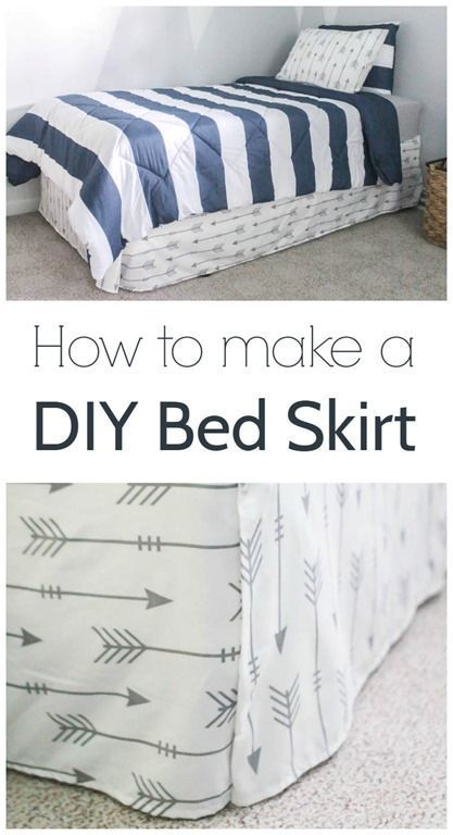 how to make a diy bed skirt, make a custom bed skirt using a flat sheet