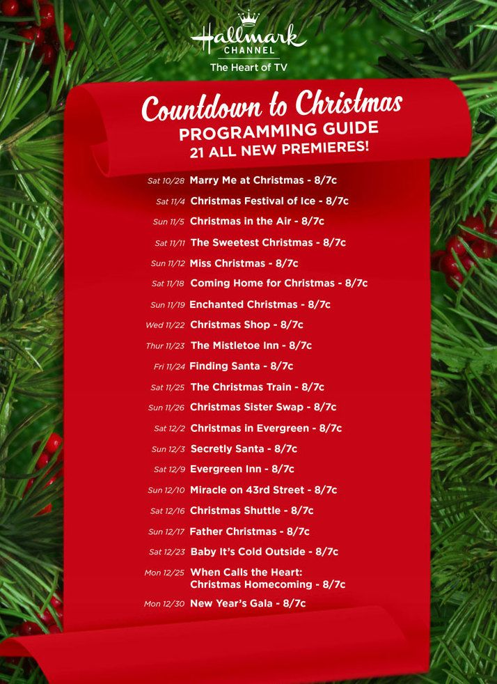 Find out more about the festive movies coming to Hallmark Channel's Countdown to Christmas this holiday season!