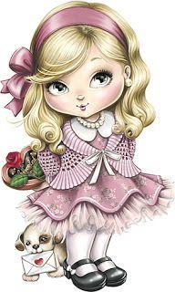Jolie da Tilibra com fundo Marrom e Rosa - Kit Completo com molduras para convites, rótulos para guloseimas, lembrancinhas e imagens!
