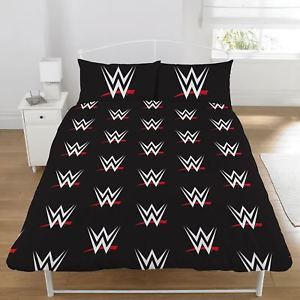 OFFICIAL WWE STARS DOUBLE DUVET COVER SET CHILDRENS BEDDING REVERSIBLE