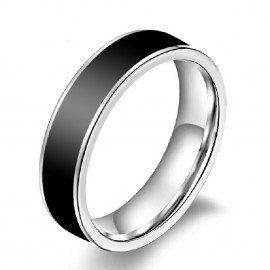 Jeulia Charming Simple Titanium Steel Men's Wedding Ring
