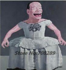Китай известный современный художник Minjun юэ хип-хоп улыбающееся лицо холст современная декоративная абстрактное искусство walloil живопись 62