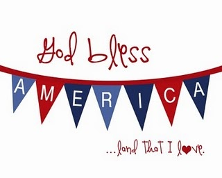 God Bless America: Blessed America, Fourth Of July, God Blessed, Holidays, 4Th Of July, July 4Th, Patriots, Free Printable, July Printable