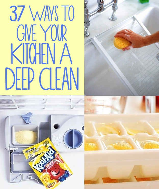 37 Ways to Give Your Kitchen a Deep Clean - This looks like a ridiculously handy list...