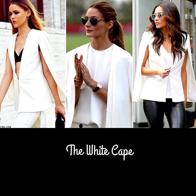 And... It's here! The White Cape Jacket. Wear it like the Leading Fashionistas of the World - on a dress, on denim and a bustier/tee. Anywhere you go, this is going to make you look SUPER FANCY 😍 #TheWhiteCape #DontBreakTheBank #Stylish #SuperSexy #NextBigTrend #FancyPants #Favourites #Love #CelebrityStyle #Sophisticated #Sexy #FashionOnPoint #Classic #AbsoluteMustHave #HighlyRecommend #BeFierce #BeFancy💞