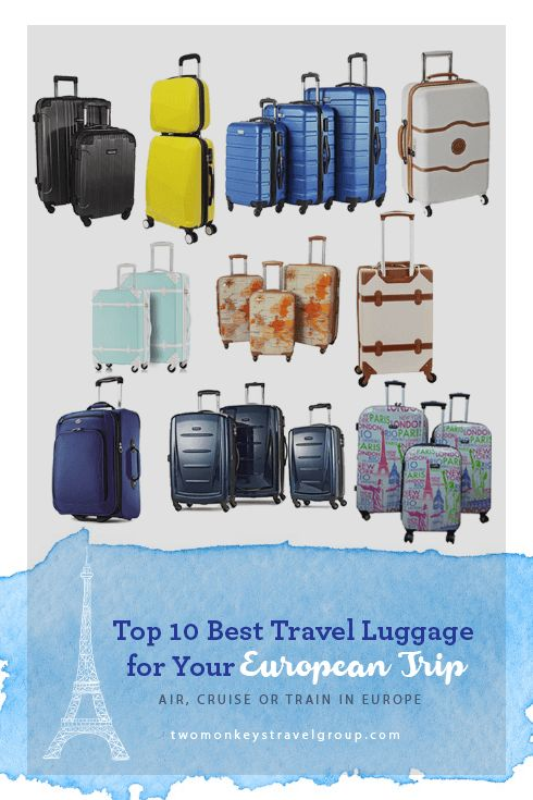 Top 10 Best Travel Luggage for your European-trip by Air, Cruise or Train in Europe Comfort always comes first and should be the prime consideration when picking the best travel luggage for your European trip. Your personality and style is also a big factor in choosing the right luggage for your travels. Where to use your suitcases and the budget that you have are also important factors that will help you decide on which type of luggage to use for your trip.
