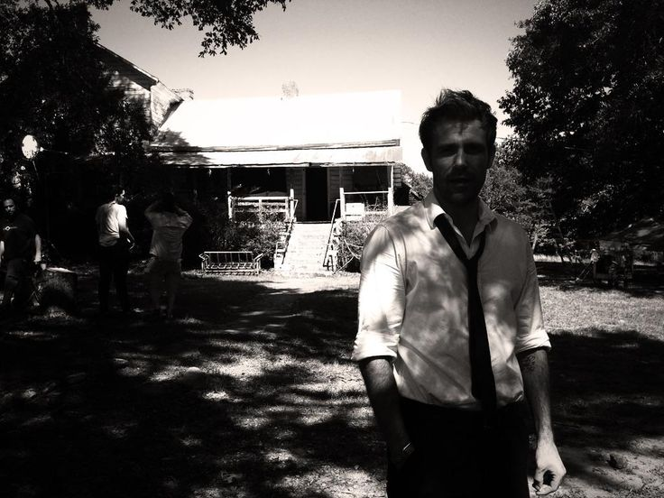"Matt Ryan shooting ""Constantine"" on location. Pic via Twitter. #SaveConstantine"